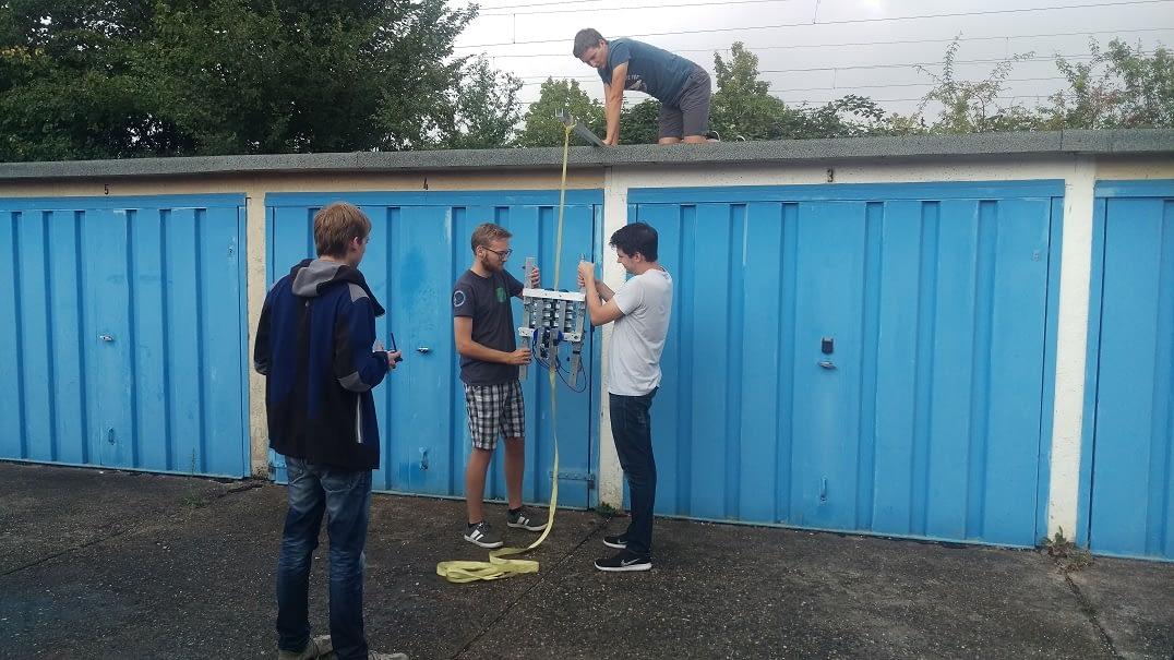 erste Tests des fertigen Climbers